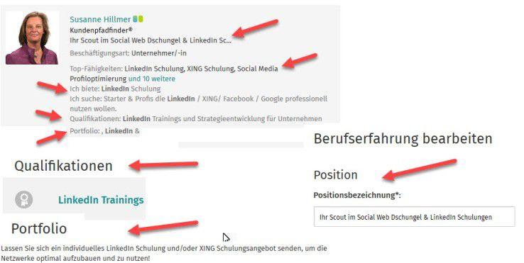 Keywords sind in Ihrem XING-Profil wichtig. Dadurch lassen Sie sich besser finden.
