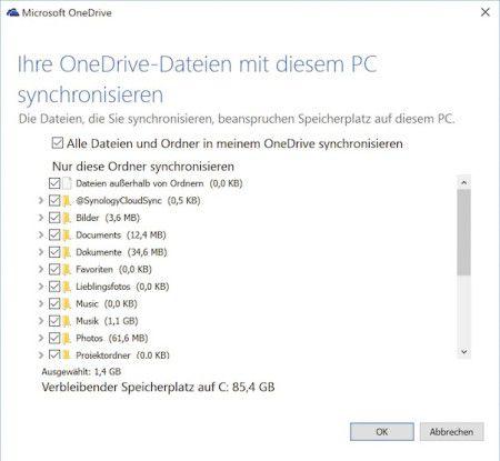 Mit einem kleinen Trick können Sie verhindern, dass Onedrive die in der Cloud gespeicherten Daten auf dem Systemlaufwerk ablegt.
