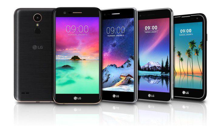 Nur drei der vier neuen Modelle von LGs K-Serie werden auch in Deutschland erhältlich sein.