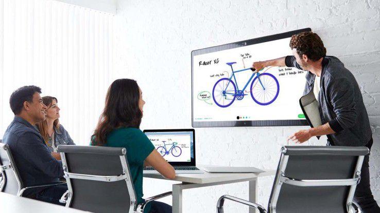 Ciscos Spark Board ist Videokonferenz-, Whiteboard- und Telefonielösung.