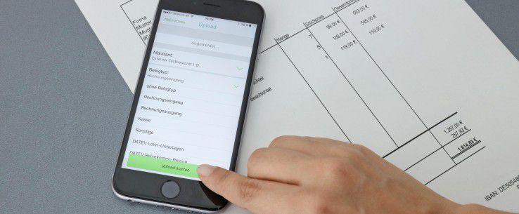 Belege schnell und einfach archivieren, die Datev-App Upload mobil macht es möglich.