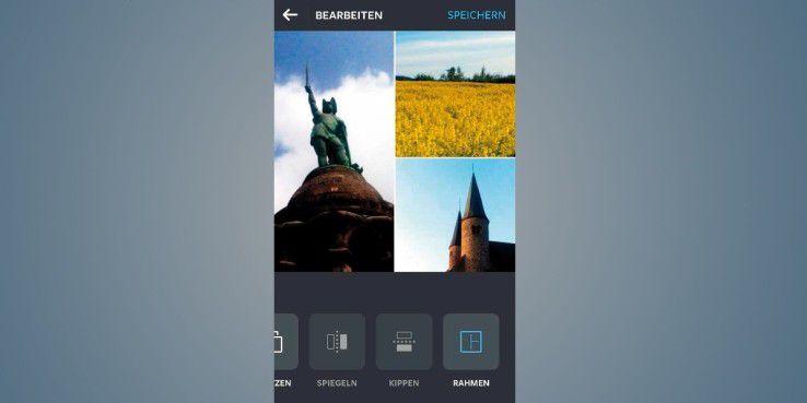 """Mit der Anwendung """"Layout from Instagram"""" erstellen Sie Col-lagen aus meh-reren Fotos."""