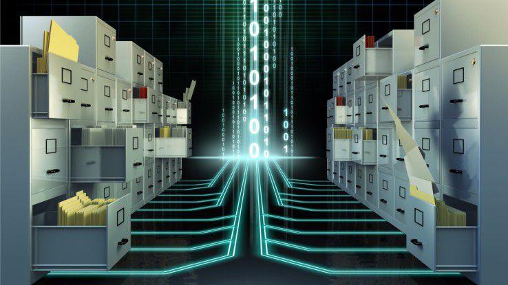 Separate Datenspeicher innerhalb der Software ermöglicht flexibleres Löschen von veralteten Daten.