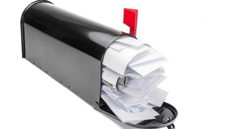Zeitfresser Mailbox: Bis zu 28 Stunden in der Woche verbringen Mitarbeiter mit der Beantwortung von E-Mails.
