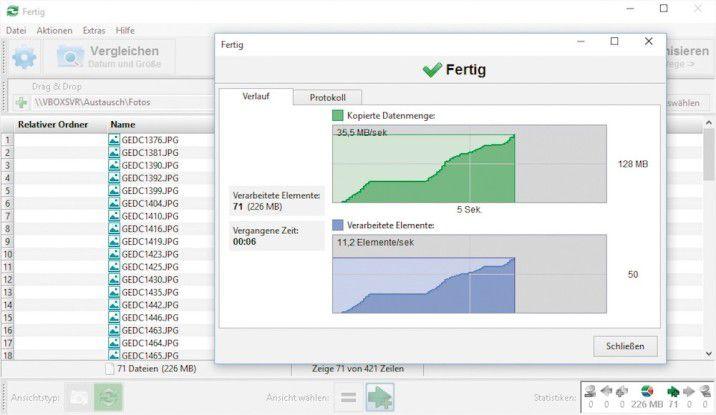 Free File Sync synchronisiert Ordner. Für Backupswählen Sie die Methode?Spiegeln?.