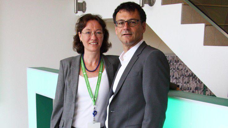 Heidi Durner, Sales Strategy & Planning EMEA bei HPE, mit ihrem Sponsor Ulrich Seibold, der sich als Mitglied der HPE-Geschäftsleitung dafür einsetzt, dass Frauen in seinem Unternehmen weiterkommen.