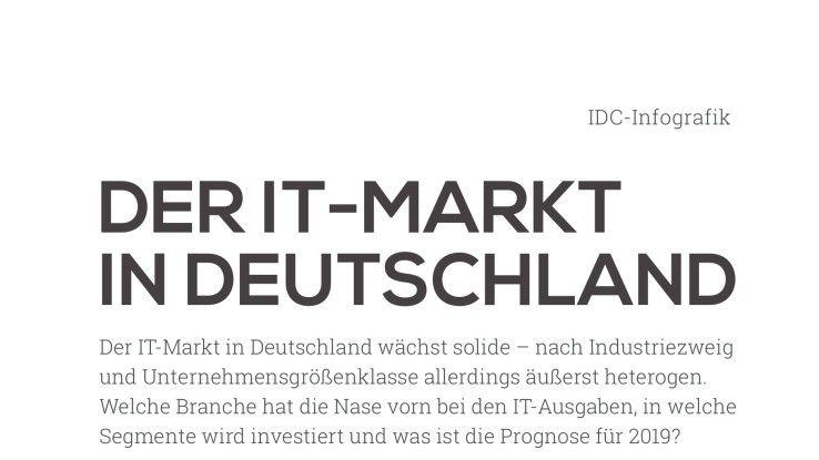 Der IT-Markt in Deutschland wächst stetig, und das soll sich laut IDC bis 2019 so fortsetzen.