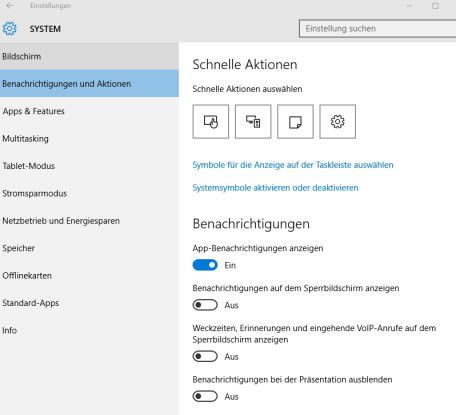 Über App-Benachrichtigungen kann auch Outlook 2016 Informationen über neue E-Mail einblenden.