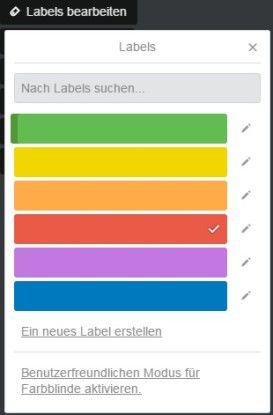 Um ein Label loszuwerden, klicken Sie nacheinander auf das Stiftsymbol, Labels bearbeiten, das zu entfernende Label und die Schaltfläche Speichern.