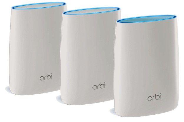 Schnelles WLAN im ganzen Haus versprechen Mesh-WLAN-Systeme wie das Netgear Orbi.