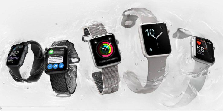 Die aktuelle Apple Watch Series 2.