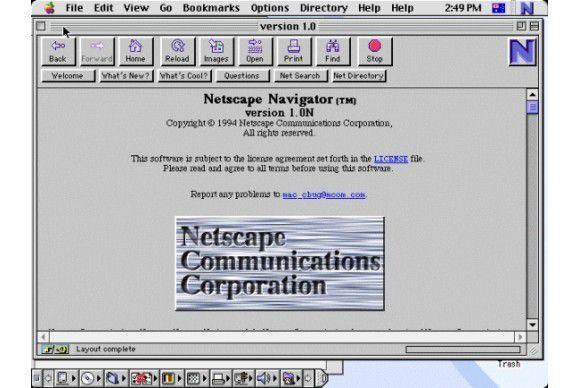 Der Nachfolger von Mosaic heißt Netscape.
