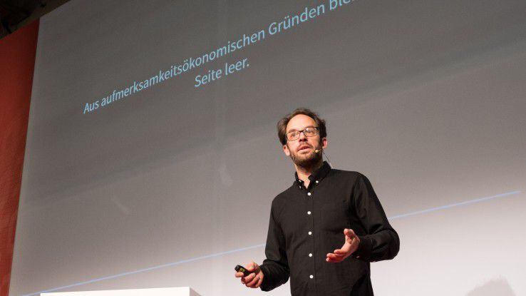 Daniel Domscheit-Berg nahm bei seiner Keynote auf der it-sa 2017 kein Blatt vor den Mund.