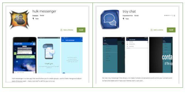 Auch Hulk Messenger und Troy Chat standen auf Google Play mit SonicSpy im Gepäck bereit.
