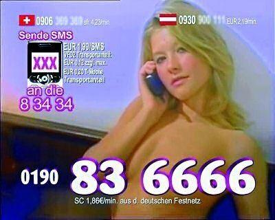 Wer spät abends im deutschen Privatfernsehen zappt, findet Werbung wie diese. Im nächsten Jahr wird es die 0190-Nummern nicht mehr geben.
