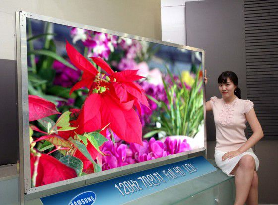 samsung entwickelt 70 zoll panel f r flachbildfernseher. Black Bedroom Furniture Sets. Home Design Ideas