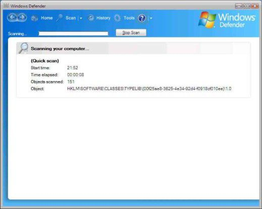 """Die Anti-Spyware """"Windows Defender"""" wird integraler Bestandteil von Vista."""