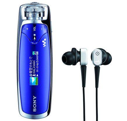 Der neue Walkman mit proprietären Ohrstöpseln, die Umgebungsgeräusche herausfiltern.