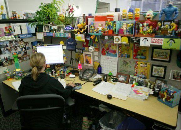 So sieht der typische Google-Arbeitsplatz aus - sagt die Presseabteilung.