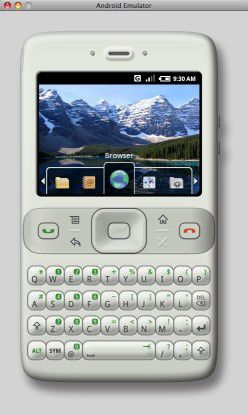 Der Prototyp eines Android-Handys.