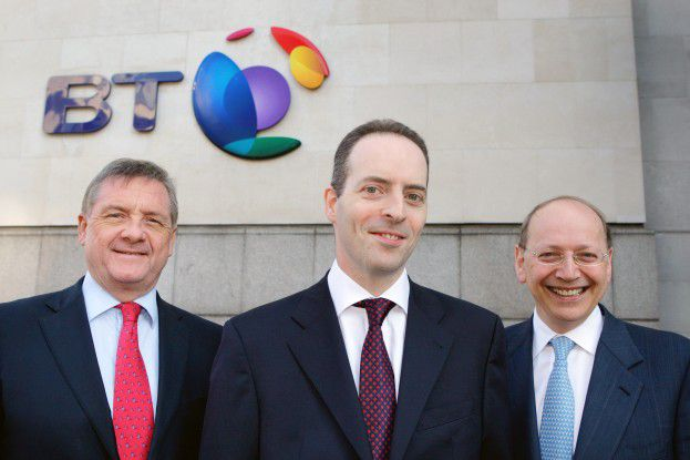 Der designierte CEO Ian Livingston (Mitte) mit dem amtierenBT-Chef Ben Verwaayen (rechts) und Aufsichtsratschef Sir Michael Drake.