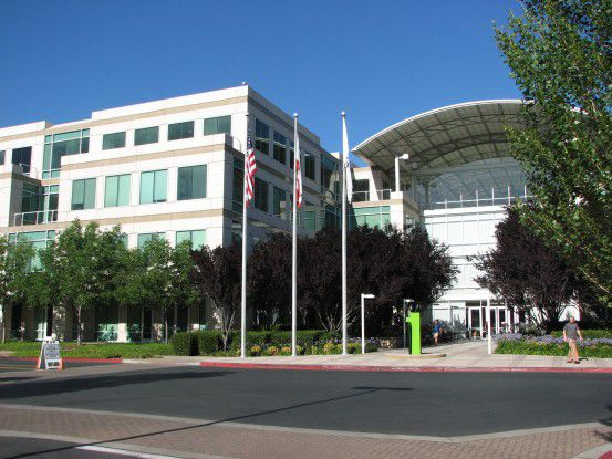 Die Apple-Zentrale in Cupertino, Kalifornien