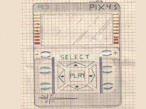 Die Skizze des Players weist eine verblüffende Ähnlichkeit mit dem iPod auf.