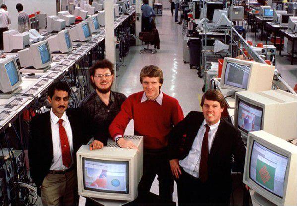 Die Sun-Gründer - Scott McNealy ganz rechts - im Jahr 1982