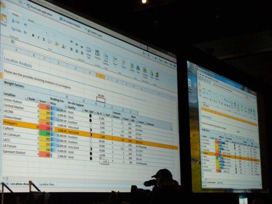 Excel für das Web läuft auf mehreren Browsern, links im Internet Explorer, rechts im Firefox.