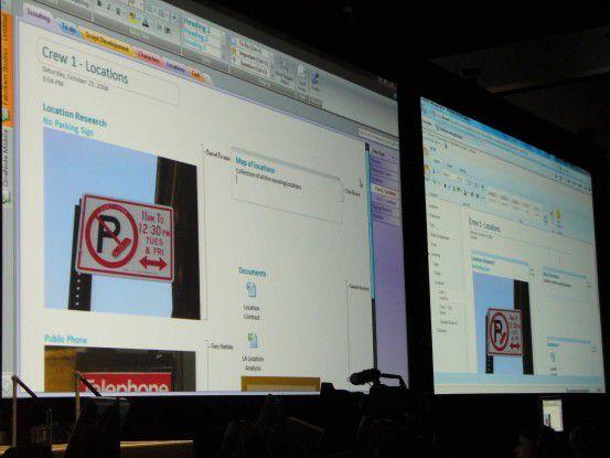 Die Browser- und die Windows-Variante (links) von OneNote gleichen sich. Einen annähernd gleichen Funktionsumfang soll es mit Silverlight geben.