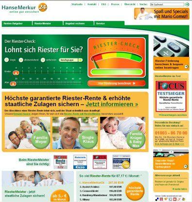 Das Portal riestermeister.de ist speziell für Riester-Versicherungen ausgelegt und basiert auf Liferay.
