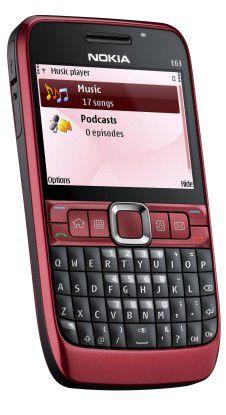Kunststoffgehäuse und schlechtere Hardwareausstattung drücken den Preis: Nokia E63.