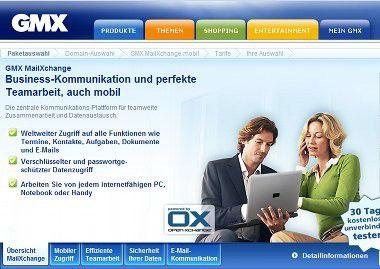 MailXchange: GMX bietet eine Push-Mail-Alternative zu Microsoft Exchange an.