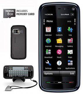 Das Nokia 5800 XpressMusic in Schwarz/Silber.