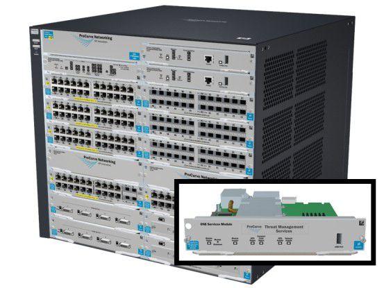 Mit dem neuen HP TMS zl Modul können HPs Switch-Serien 8212 und 5400 um Firewall-, VPN- und IPS-Funktionalität erweitert werden.