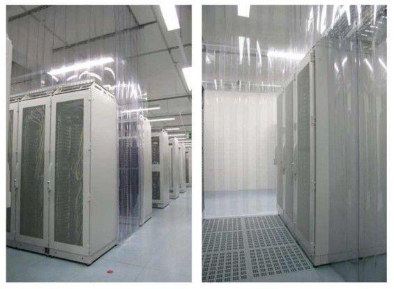 Eine der wirkungsvollsten Möglichkeiten, die Wärmeabfuhr aus dem Rechenzentrum effizient zu gestalten, ist die konsequente Trennung von warmen und kalten Luftströmen (Quelle: IZE, TU Berlin).