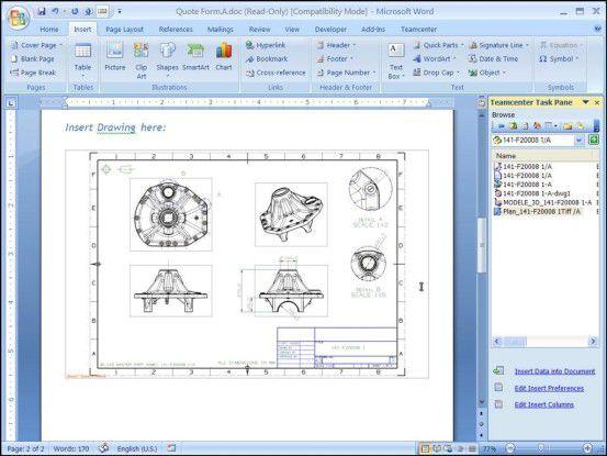Teamcenter 8 soll Anwendern erlauben, PLM-Aufgaben über Office-Programme zu erledigen.