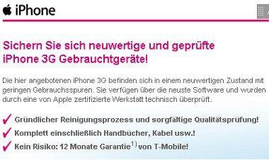 T-Mobile verkauft gebrauchte iPhone bereits ab 1 Euro.