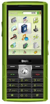 """Das (inzwischen eingestellte) Entwickler-Handy """"Greenphone"""" von Trolltech."""