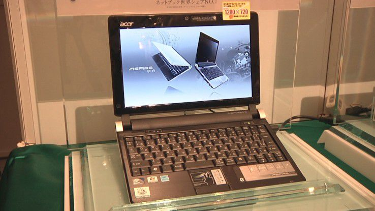 Mit dem Netbook Aspire One D250 startet Acer in das Windows-7-Zeitalter.