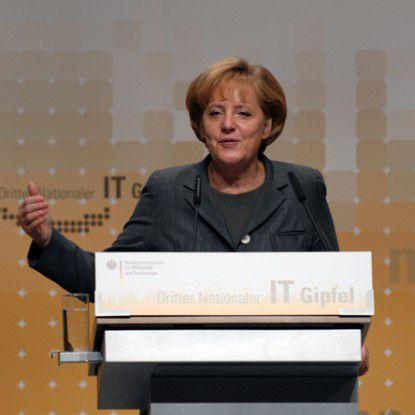 Bundeskanzlerin Angela Merkel auf dem 3. Nationalen IT-Gipfel.