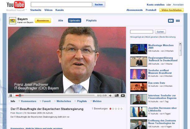 Sreenshot vom Auftritt des Bayern-CIO bei Youtube.