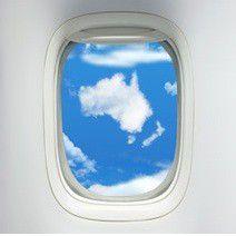 Die Cloud auf dem Weg nach ganz oben - hier aus dem Flugzeug fotografiert,