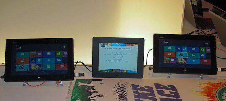 Seltenes Bild: Tablets mit AMD-Chipsatz auf der CES in Las Vegas.