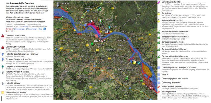 Hochwasserhilfe in Dresden