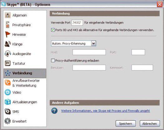 Firmen können neuere Skype-Versionen auch via Proxy ins Netz schicken.