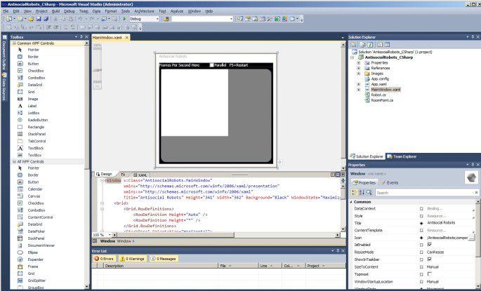 Visual Studio 2010 wurde optisch aufpoliert und wirkt nun übersichtlicher.