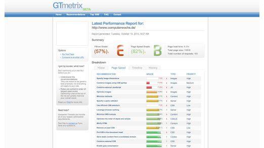 GTmetrix bietet einen einfachen Weg, die Performance beliebiger Web-Seiten online zu analysieren.