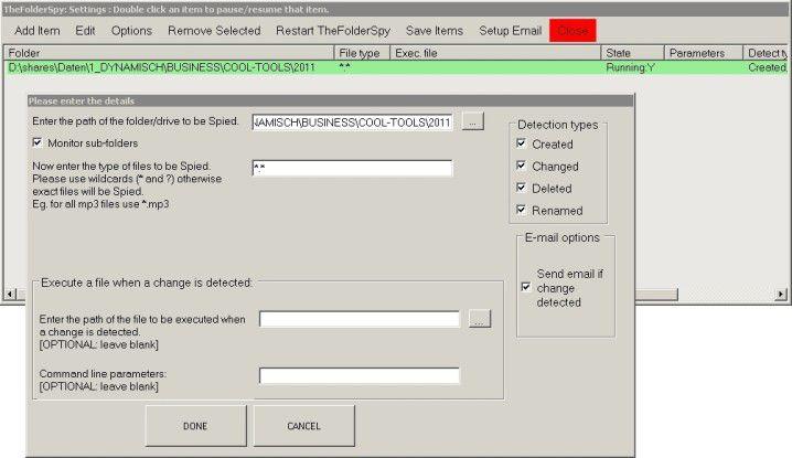 Keine Dateiänderung mehr verpassen mit TheFolderSpy.