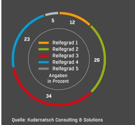 Einschätzung der Lean-Reifegrade Die Mehrheit der Befragten ordnet den eigenen Lean-Reifegrad bei 2 und 3 ein: Es gibt bei ihnen ernst zu nehmende Lücken.